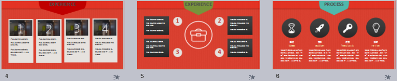 红色精致简洁的个人求职简历PPT模板